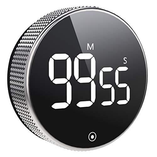 Vabaso Digital Kitchen Timer, Küchentimer Magnetisch, Eieruhr, Kurzzeitwecker, Große LCD Bildschirm, Lauter Alarm, Ideal Kurzzeitmesser für Kochen, Backen, Sport, Studieren