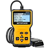 MOTOPOWER MP69033 Car OBD2 Scanner Code Reader Engine Fault Code Reader Scanner CAN Diagnostic Scan Tool for All OBD II Protocol Cars Since 1996, Yellow