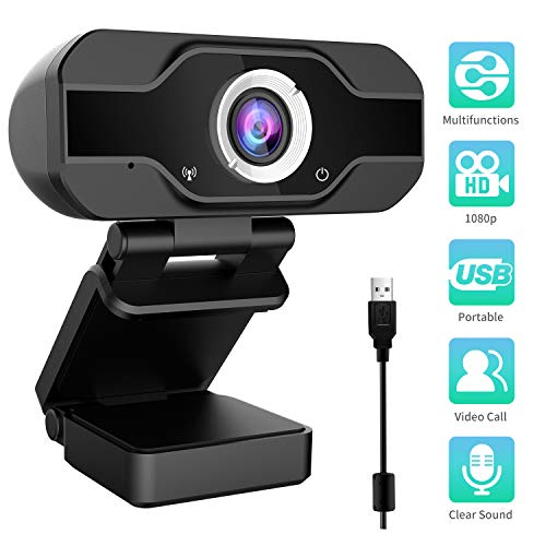 Aiglam Webcam, Webcam PC 1080P Cámara Web de Alta Definiciócon...