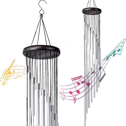 Carillon a Vento Esterno, 36' Campanelli a Vento con 18 Tubi in Lega di Alluminio per Giardino, Patio, Cortile, Decorazione per la Casa Regali di Compleanno di Natale