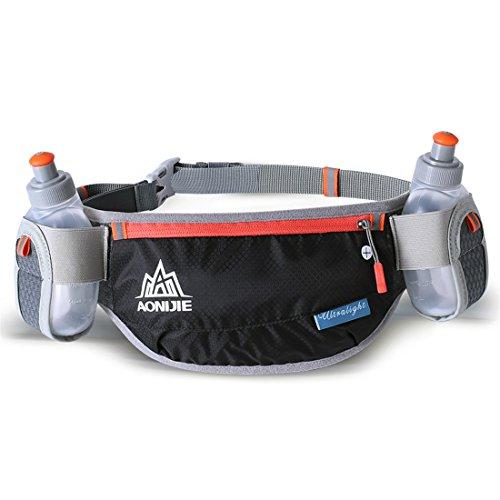 AONIJIE Cinturón de hidratación ajustable para hombre o mujer, con 2...