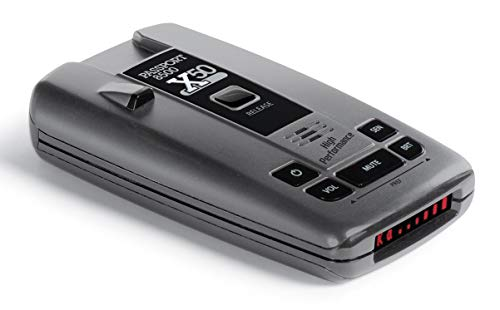 Escort Passport 8500 X50 Radar Detector – Extended Long Range, AutoMute, AutoSensitivity, Audible Alerts, Adjustable LED Display, Signal Strength Meter, Grey, 1.25'X2.85'X5.32'