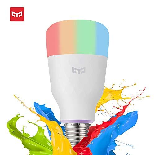 Lampadina WiFi LED E27, Wanfei Lampadina Mijia Yeelight a colori 10W 800lm 1700K-6500K Lampadina a LED Dimmerabile RGB Lampadina con Google Assistant e Amazon Alexa [Versione multicolor]
