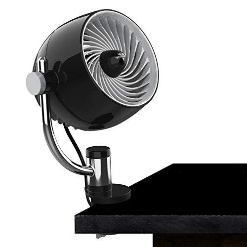 Vornado Pivot3C Compact Air Circulator Clip On Fan with Multi-Surface Mount, Black