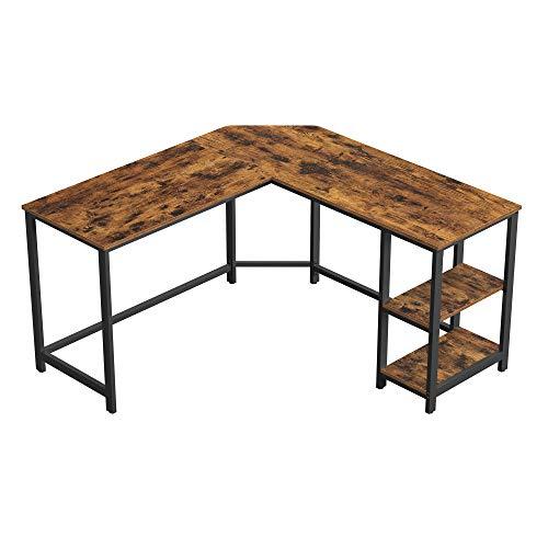 VASAGLE Computer Desk, 54-Inch L-Shaped Corner Desk, Writing Study...