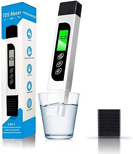 YAMI Tester di qualit dell'Acqua, accurato Metro tds Metro EC e Penna di Prova di Temperatura con LCD retroilluminato per Acqua Potabile, idroponica, Piscine, acquari