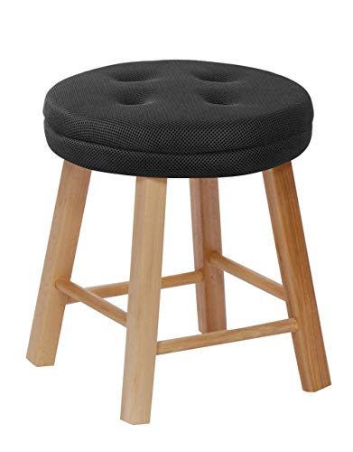 baibu Round Stool Cushions, Super Breathable Bar Stool Cover Seat Cushion for Kids Wobble Chair/Flexible Seating Stool, Black 11' - One Cushion Only