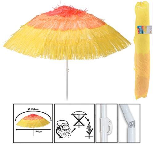 Spetebo Strandschirm Hawaii Ø 174 cm - knickbar - Bogenspannweite 194 cm - Sonnenschirm Balkonschirm Gartenschirm
