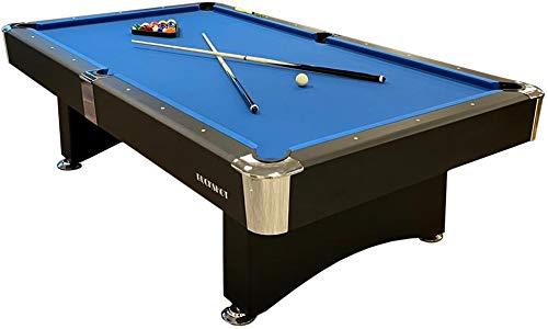 Buckshot Billardtisch 8ft Manhattan - 244x132x80 cm - 8 Fuß Pool Billard - Kugelrücklauf - Tischbillard mit Zubehör - Billard Tische 130kg?