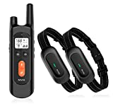 NVK Dog Training Collar - 2 Receiver Rechargeable Collars for Dogs with Remote, 3 Training Modes,...