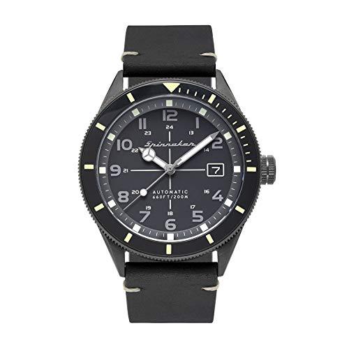 SPINNAKER Cahill Herren-Armbanduhr 43mm Armband Leder Automatik SP-5064-01