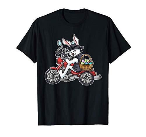 イースターバニーオートバイギフトキッズバイカーギフト男性Braap Tシャツ