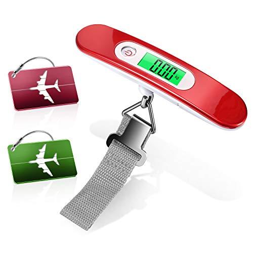 Pèse Bagage Electronique, Yosemy Balance Numérique Portable (Rouge) et 2...