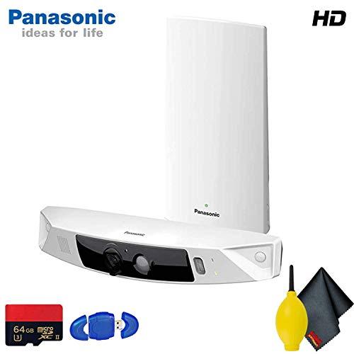 Panasonic KX-HN7001W Smart Home Monitoring HD Camera System Standard Accessory Bundle