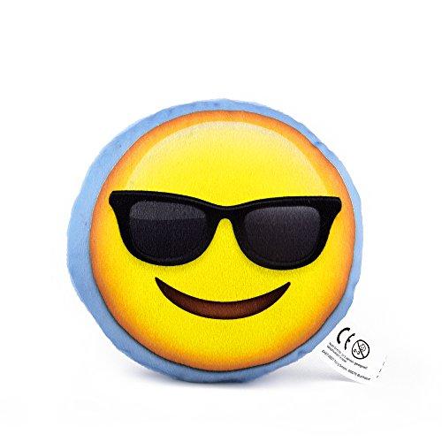 Mini Emoji Cojín, Emoticon Smiley, regalo, decoración Cojín de Knuddel Smiley Anti estrés Cojín Antiestrés