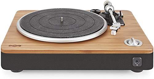 House of Marley Platine Vinyle Stir It Up - Tourne-disque avec Préampli Stéréo, Port USB, Record LP à PC, 33 + 45 Tr / min, Anti-patinage, Câble Audio RCA vers 3.5mm, Housse de protection - Bambou