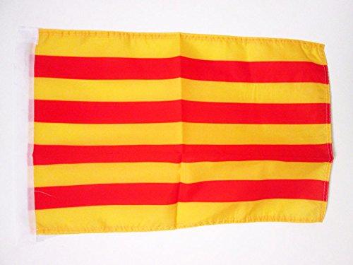 AZ FLAG Bandera de CATALUÑA 45x30cm - BANDERINA CATALANA - Catalunya 30 x 45 cm cordeles