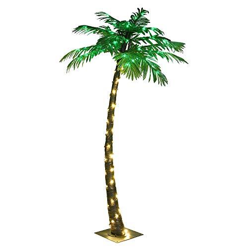 LIGHTSHARE 5FT Artificial Lighted Palm Tree, 56LED Lights, Decoration...