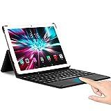 Tablet 10 Pollici da Gioco - TOSCIDO T50 Android 10.0, Octa Core 2.0 GHz,128 GB, 6 GB di RAM, 1920*1200 FHD,Fotocamera da 13 MP + 5 MP,Doppia SIM 4G LTE e Wi-Fi 5G, GPS, Buletooth 5.0,Face ID - D'oro