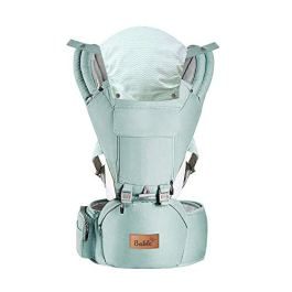Bable Baby Carrier Hip Seat Grey and Green
