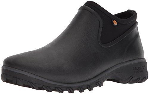 BOGS Women's Sauvie Chelsea Waterproof Garden Rain Boot, Black, 9 M US