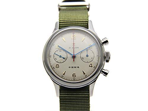Seagull ST19 Movt Orologio da polso da uomo, cronografo in vetro zaffiro meccanico