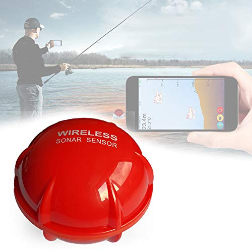 CARACHOME Fishfinder Wireless Portatile, ecoscandaglio da Pesca Trasduttore ecoscandaglio App Sonar Connessione Bluetooth per Telefono Cellulare, per iOS e Android