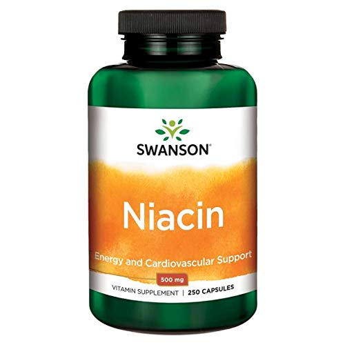 Niacin (Vitamin B3) 500 mg , 250 Kapseln Swanson Health Products
