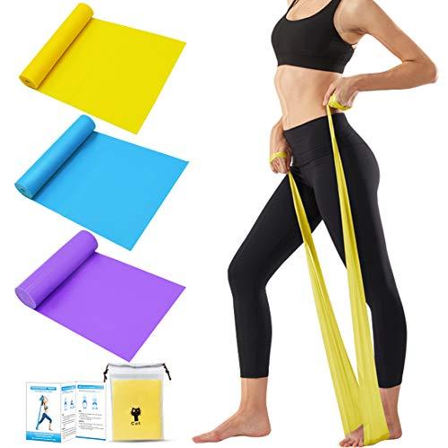 Tompig Fasce Elastiche Fitness, Set di 3, Fascia Elastica Esercizi, 1,5 m Fasce Elastiche con 3...