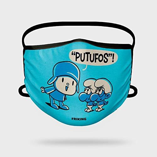 Missborderlike - Mascarilla Infantil Pitufos!