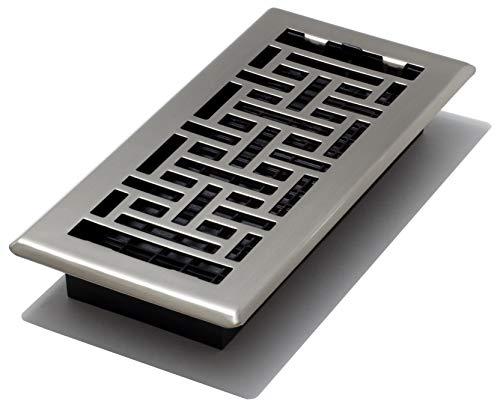 Decor Grates AJH410-NKL Floor Register, 4' x 10', Nickel
