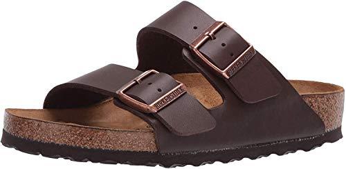 Birkenstock 51703 - Sandalias con hebilla unisex, color marrón, talla 40 (estrecho)