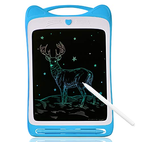 NARRIO Learning Toys for 3 4 6 7 8 5 Year Old Boys Gifts,Colorful Drawing Board Erasable Reusable Writing Tablet for Kids Christmas Birthday Gifts for 4-9 Year Old Boys Toys Age 2-5 Funny Gifts Blue