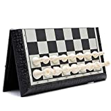 MYBA Ajedrez de ajedrez de juego, juego de ajedrez magnético de viaje con tablero plegable / portátil regalo (tamaño: 41 cm)