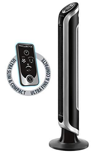 Rowenta VU6670F0 Ventilateur Colonne sur Pied Eole Infinite Électronique avec Télécommande 4 Vitesses Tour Oscillation Minuterie Mode Eco 40W