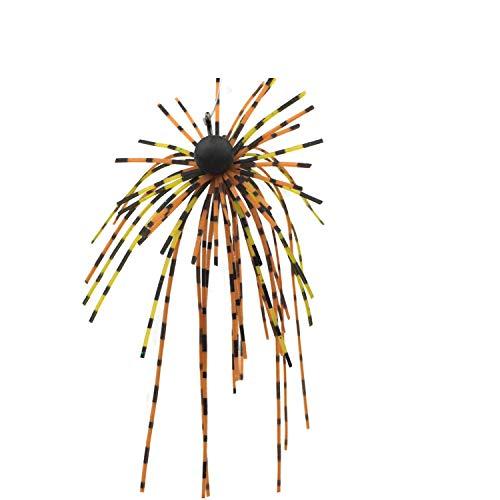 FISHN Dirty Hairy Jig - Frange, Frange orecchiabili - parabraccio, Maschere di Gomma, Esche morbide - Amo affilato, Peso: 2,5 g / 5 g - Set luccio, Pesce persico e luccioperca (Brown 5g)