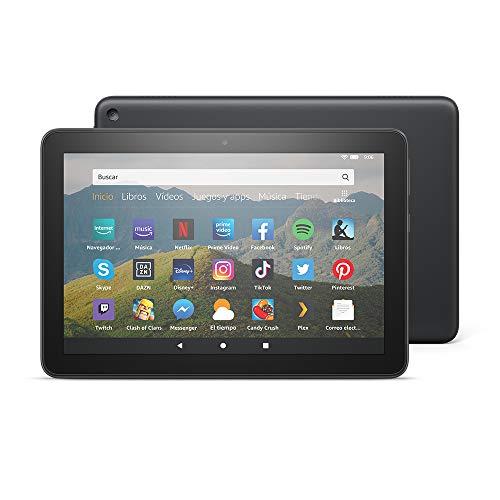 Nuevo tablet Fire HD 8, pantalla HD de 8 pulgadas, 32 GB, negro, con ofertas especiales