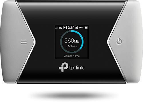 TP-Link M7650 mobiler WLAN Router (4G/LTE bis zu 600Mbit/s Download/ 50Mbit/s Upload, Hotspot, Cat11, 3000mAh Akku, LCD Display, kompatibel mit allen europäischen SIM Karten) schwarz/silber