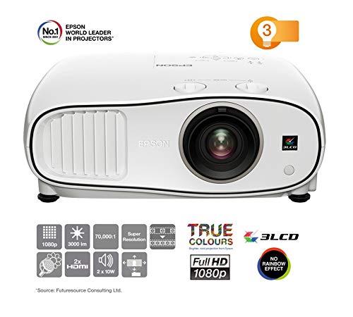 Epson EH-TW6700W Videoproiettore 3LCD, Wireless 3D, Full HD da 3.000 lumen per Home Theatre con tecnologia 3LCD