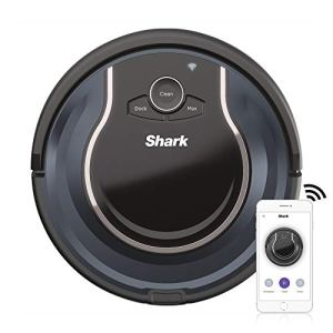 Shark ION Robot Vacuum R76 with Wi-Fi and Voice Control, 0.5 Quarts, in Black and Navy Blue