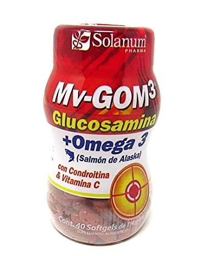MV GOM3 Glucosamina + Omega 3 40 cápsulas Solanum Pharma
