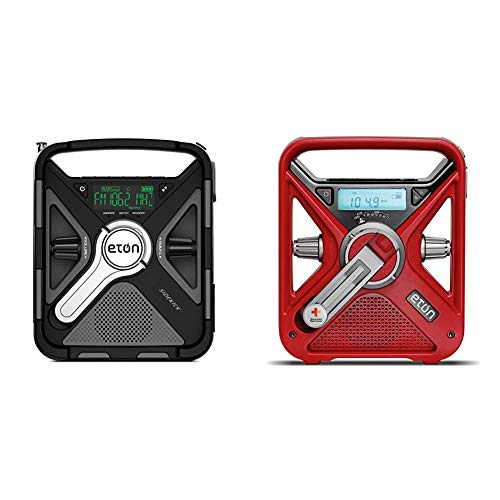 Eton Ultimate Camping AM/FM/NOAA Radio with S.A.M.E Technology & American Red Cross Emergency NOAA Weather Radio with USB Smartphone Charger, LED Flashlight & Red Beacon