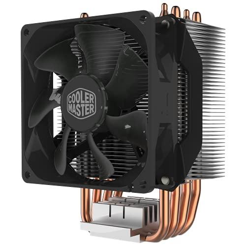 Cooler Master Hyper H412R Refroidisseur CPU Ventirad Low-Profile, Technologie Direct Contact, 4 Caloducs Cuivre, Radiateur Aluminium Compact, Ventilateur PWM 92mm, Compatible AMD & Intel
