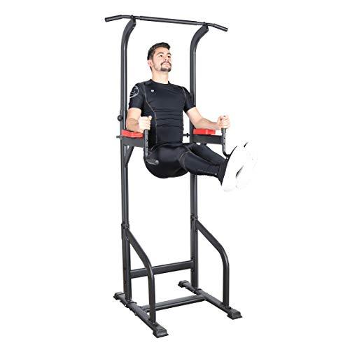 Ultrasport Unisex - Erwachsene, Power Rack / Fitness Rack Multifunktionales Rack für effektives Ganzkörpertraining, massive Stahlkonstruktion, Schwar/Rot, Extra breit