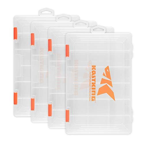 KastKing Tackle Boxes, Plastic Storage Organizer Box with Removable Dividers, 3600 Tackle Trays,...