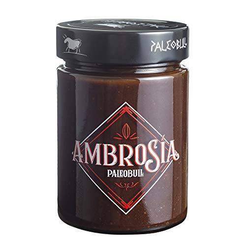 Crema de Cacao y Avellanas Saludable Ambrosía - Sin Azúcar Añadido, Sin Edulcorantes, Sin Stevia, Sin Aceite de Palma, Sin Aceite de Girasol, Con AOVE y Más del 25% de Avellanas - 300 g