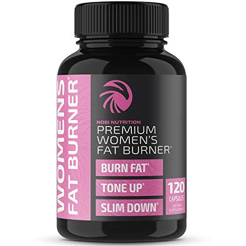 Nobi Nutrition Premium Fat Burner for Women - Thermogenic Supplement, Carbohydrate Blocker, Metabolism Booster an Appetite Suppressant - Healthier Weight Loss - Energy Pills - 60 Capsules (120 ct) 1