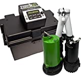PumpSpy PS2000C Pre-Assembled SmartPump Combination Wi-Fi Connected 1/2HP Cast Iron Sump Pump and 12V Battery Backup Sump Pump with Internet Monitoring and Alerts (3 Year Warranty)