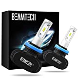 BEAMTECH H11 LED Bulb, 50W 6500K 8000Lumens Extremely Brigh H8 H9 CSP Chips Conversion Kit Fanless Cool White All In One Plug N Play Low Fog Light