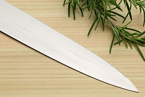 Product Image 5: Yoshihiro Hayate Inox Aus-8 Yanagi Sushi Sashimi Japanese Chef Knife Integrated Stainless Handle (9.5'' (240mm))